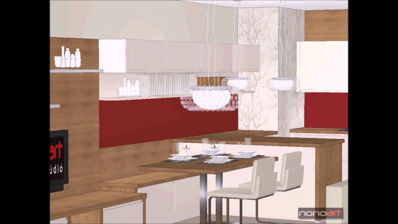 Konyha-Nappali-Étkező-Dolgozó Egyben, www.nonoart.hu, kitchen ...