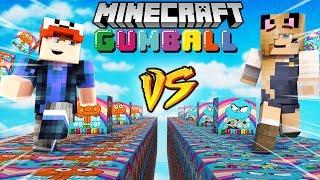 SZALONY WYŚCIG! - GUMBALL LUCKY BLOCKI MINECRAFT (Gumball Lucky Block Race)   Vito vs Bella