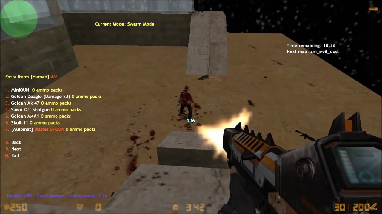 Cs 1. 6 zombie plague with xp system download+install playithub.