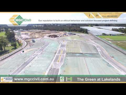 MGC Civil Drone Footage Of Practical Completion At The Green Lakelands Western Australia August 2018