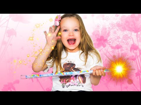 Valerie plays with a magic wand and turns her parents into toys. Funny story for kids.