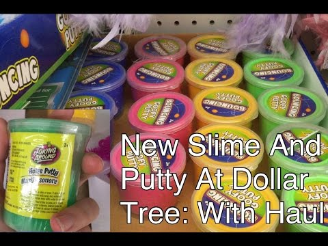 New Slime And Putty At Dollar Tree: With Haul!!