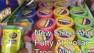 new slime and putty at dollar tree with haul