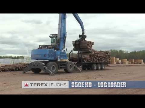 Terex Fuchs 350E HD Millyard Log Loader | 2014 Demo With A.L.P.A. Equipment Ltd.
