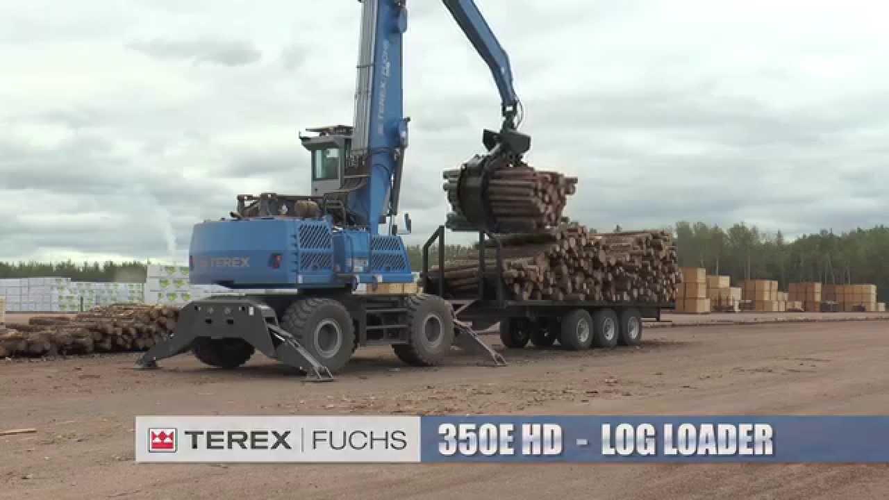 Terex Fuchs 350E HD Millyard Log Loader | 2014 Demo with A L P A  Equipment  Ltd