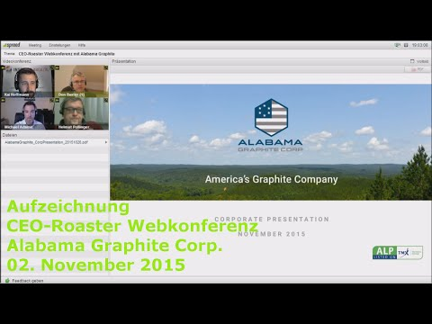 Stock-Telegraph.com vom 03.11.2015 - CEO-Roaster mit Alabama Graphite Corp.