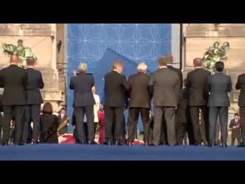 Jean claude Juncker ivre au sommet de l'OTAN 2018