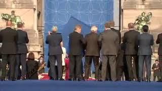 Jean claude Juncker ivre au sommet de l OTAN 2018