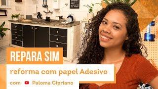 Como envelopar armário de cozinha - reforma rápida com Paloma Cipriano