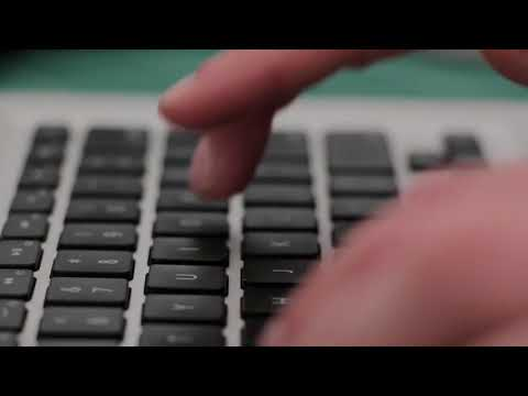 Laptop or computer Keyboard hand typing Part 2 - Free stock video