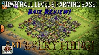 Clash Of Clans | Base Review! | Freddy2222's Town Hall Level 9 Farming Base!