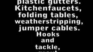 Weird Al Yankovic - Hardware Store (Fast Part + Lyrics)