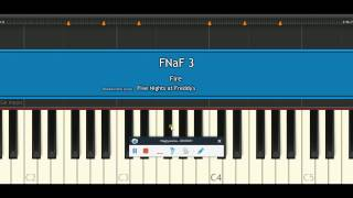 FNaF3 Fire tutorial piano (synthesia)