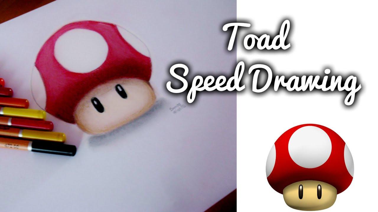 Drawing Super Mario S Mushroom Toad