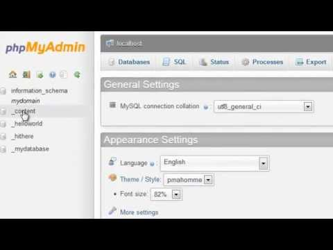 Exporting MySQL databases and tables using phpMyAdmin