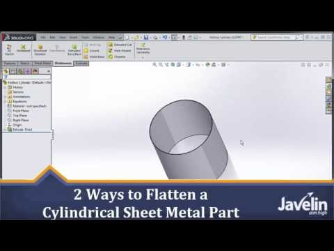 SOLIDWORKS Tutorial: 2 Ways to Flatten a Cylindrical Sheet Metal Part