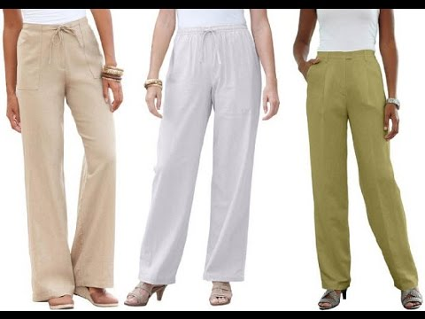 Womens Linen Pants - YouTube