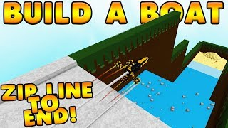 ZIP LINE TO THE END! | Build A Boat For Treasure ROBLOX