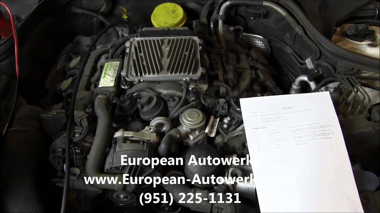 Mercedes Benz Repair Temecula Murrieta Codes P0171 P0174 Lean 2004 Ml350 Fuel Filter Exhaust 06530745209107490629
