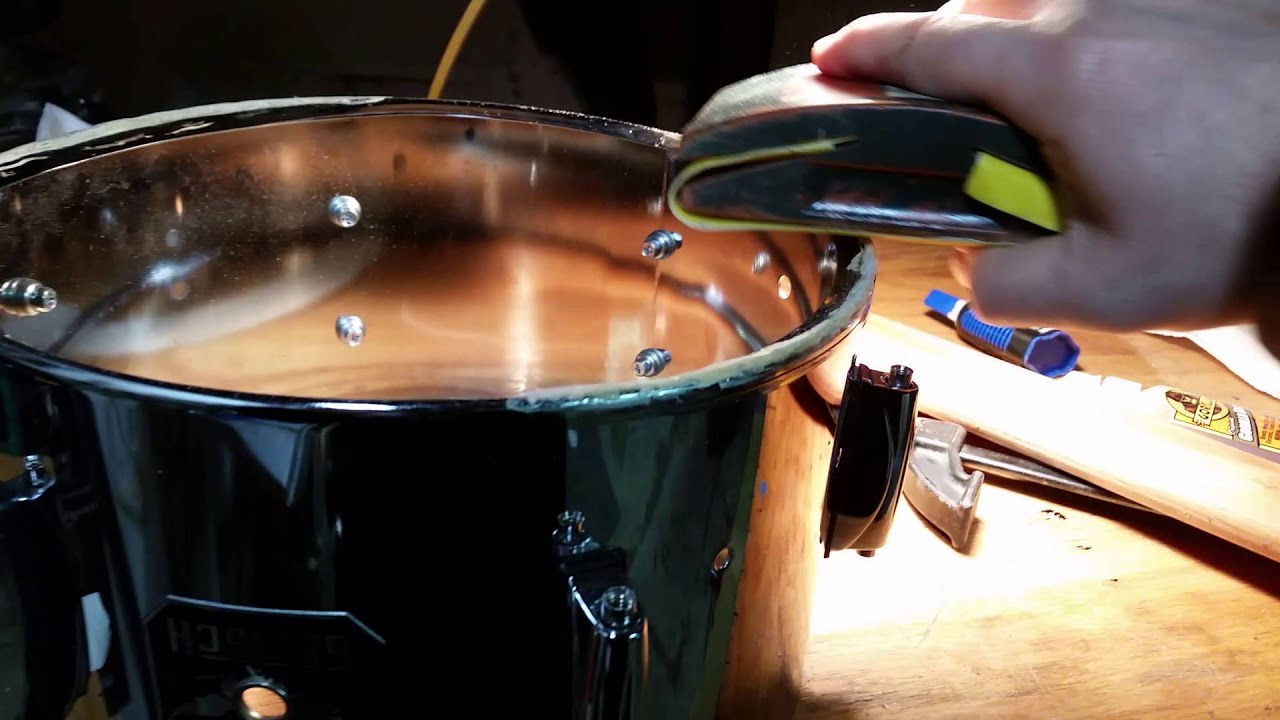 How to Repair the Bearing Edge of a Drum