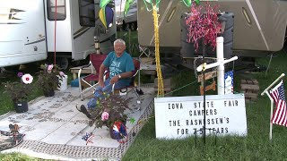 Man Celebrates 75 Years of Camping at Iowa State Fair