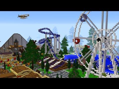 Minecraft: Massive Working Amusement Park!