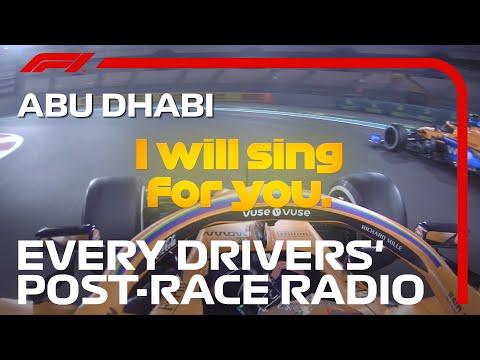 Every Drivers' Post-Race Radio | 2020 Abu Dhabi Grand Prix
