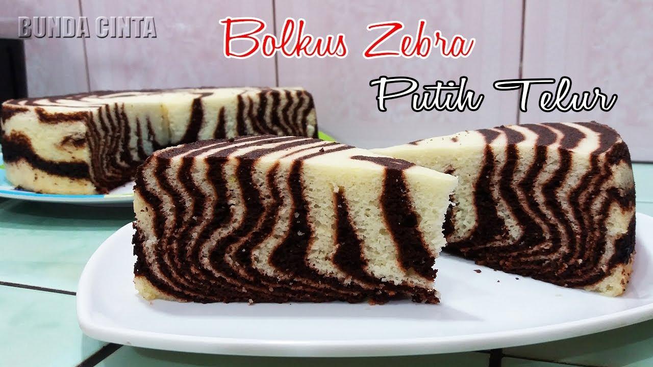 Resep Bolu Kukus Zebra Putih Telur Enak Dan Sederhana Youtube