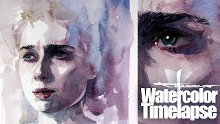 Watercolor [Speed painting - Timelapse]  Elizabeth Debicki - Cloverfield Paradox
