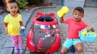 Car Wash Song Leah and Anwar Nursery Rhymes & Kids Songs