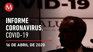 Informe diario por coronavirus en México, 16 de abril de 2020