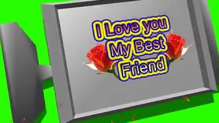Happy Friendship Day Green Screen Effects - Happy Friendship Day speciel 3D Animated Video No 82
