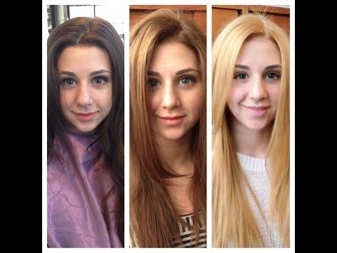 как из черного  покраситься в  красивый блонд