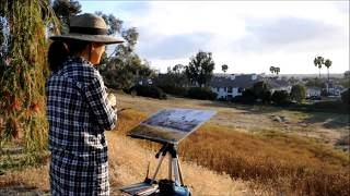 Painting California Landscape in Watercolor En Plein Air by Keiko Tanabe
