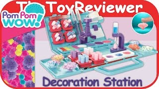 Pom Pom Wow Decoration Station Unboxing Toy Review by TheToyReviewer