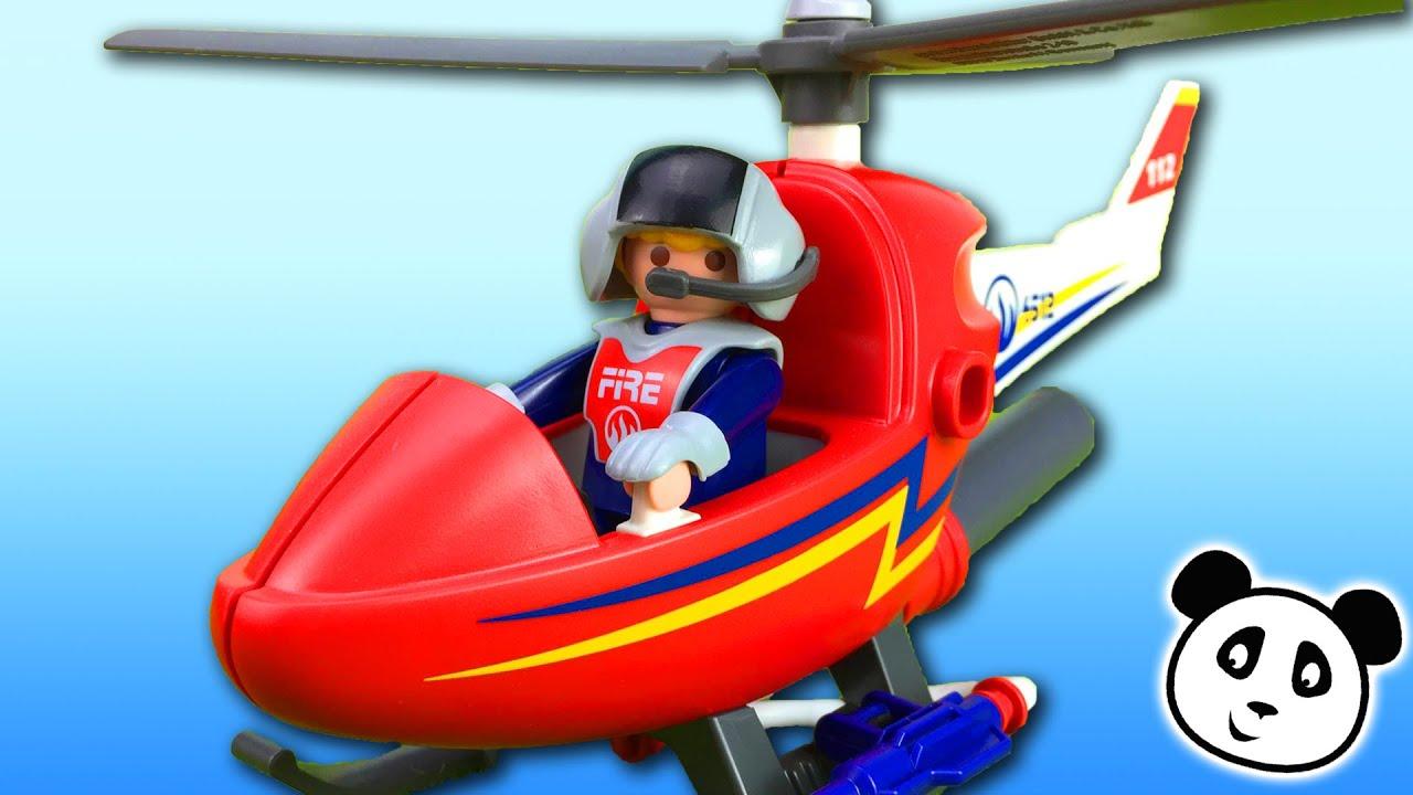 Playmobil en espa ol helic ptero lanza agua playmobil for Helicoptero playmobil