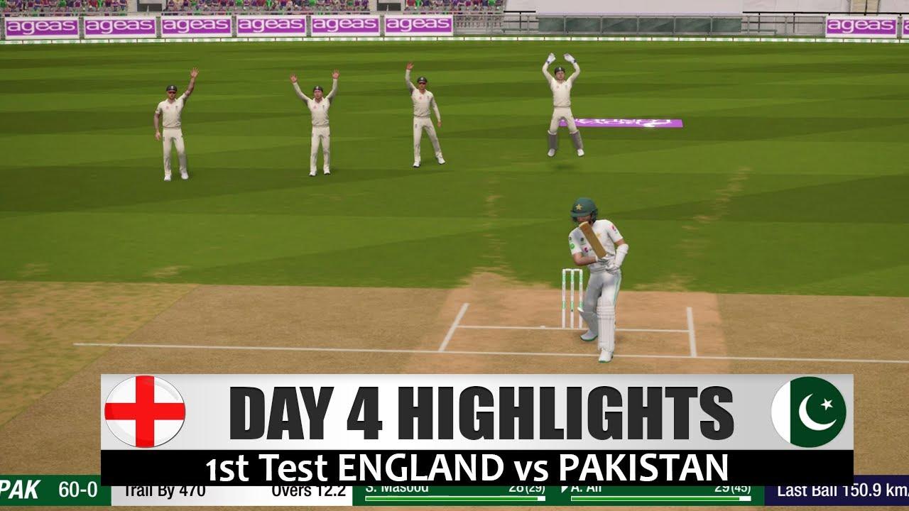 Day 4 - 1st Test - England vs Pakistan - Cricket 19 Match HD Highlights  2020