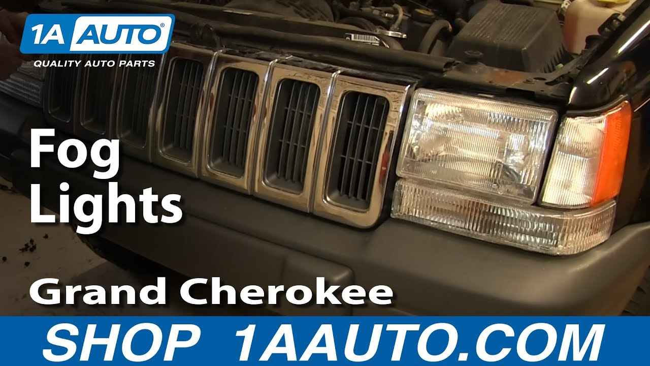 How to Replace Fog Lights 97-98 Jeep Grand Cherokee Jeep Wiring Diagram Running Lights on
