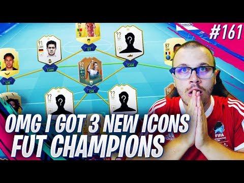 FIFA 19 I GOT 3 INSANE ICONS FOR FUT CHAMPIONS & BUILT MY BEST EVER RTG SQUAD!