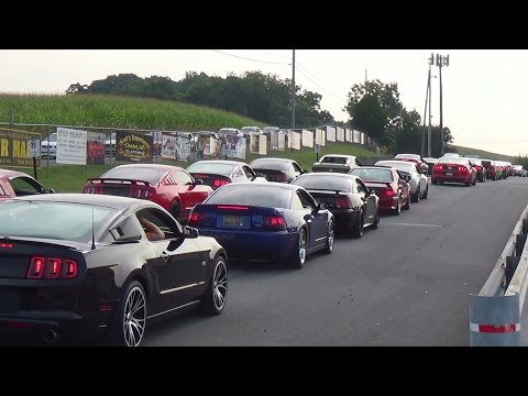 PT 2 Arrivals american muscle mustang show reading,pa 8-16-14
