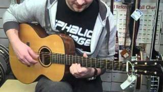 Tony plays the Aitkin AA Handmade Acoustic Guitar at Hobgoblin Music Birmingham