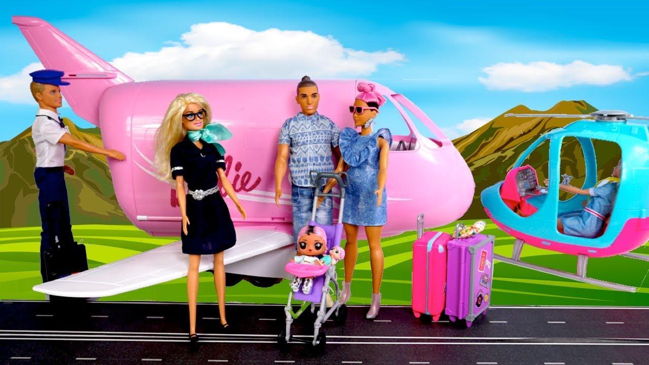 Barbie Doll Lol Jet Set Qt Family Morning Travel Routine
