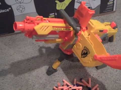 21 Volt Upgraded Nerf Vulcan Machine Gun Mod 50 Round