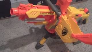 21 VOLT UPGRADED NERF VULCAN MACHINE GUN MOD -  50 ROUND DART BELT