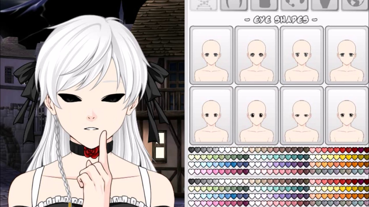 Create A Gothic Girl On Anime Avatar Creator Youtube