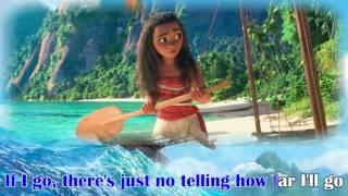 MOANA - How Far I'll Go (KARAOKE clip) - Instrumental with lyrics on screen