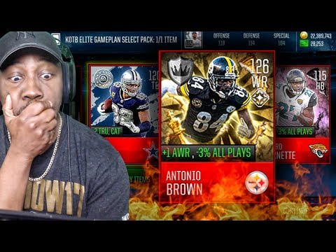 MAXED 126 OVR ANTONIO BROWN IN KING OF THE BOARD PACK OPENING! Madden Mobile 18 Gameplay Ep. 51