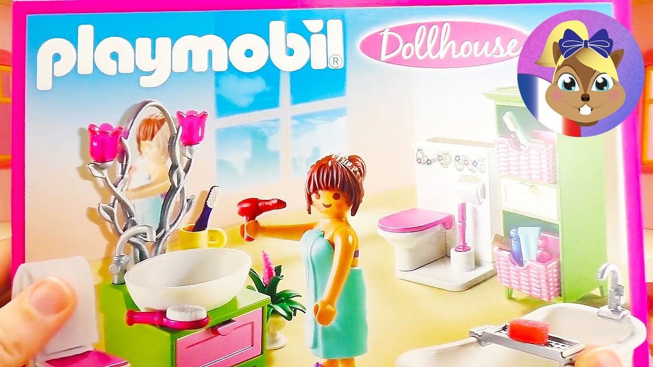 am nager la maison de playmobil chambre d enfants multicolore et salle de bain romantique. Black Bedroom Furniture Sets. Home Design Ideas