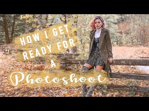 How I Get Ready For A PHOTOSHOOT (makeup, hair, outfit, location, etc)