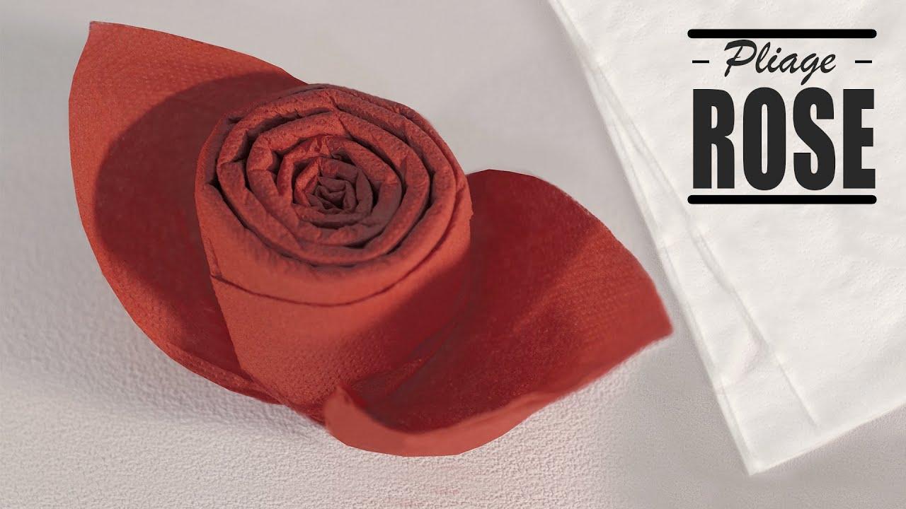Pliage De Serviette Noel Bouton De Rose